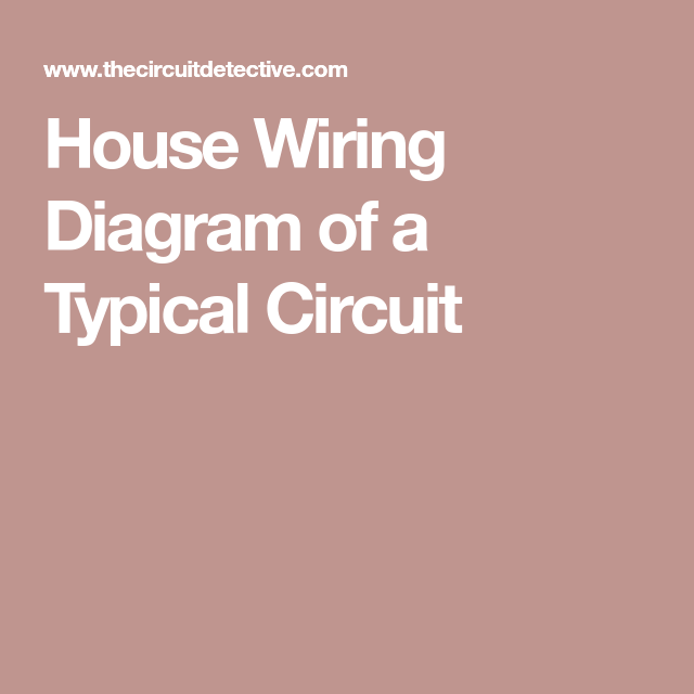 House wiring diagram of a typical circuit electric pinterest electrician describes a typical home electrical circuit in detail using a basic house wiring diagram it shows the way connections are made in electrical cheapraybanclubmaster Choice Image