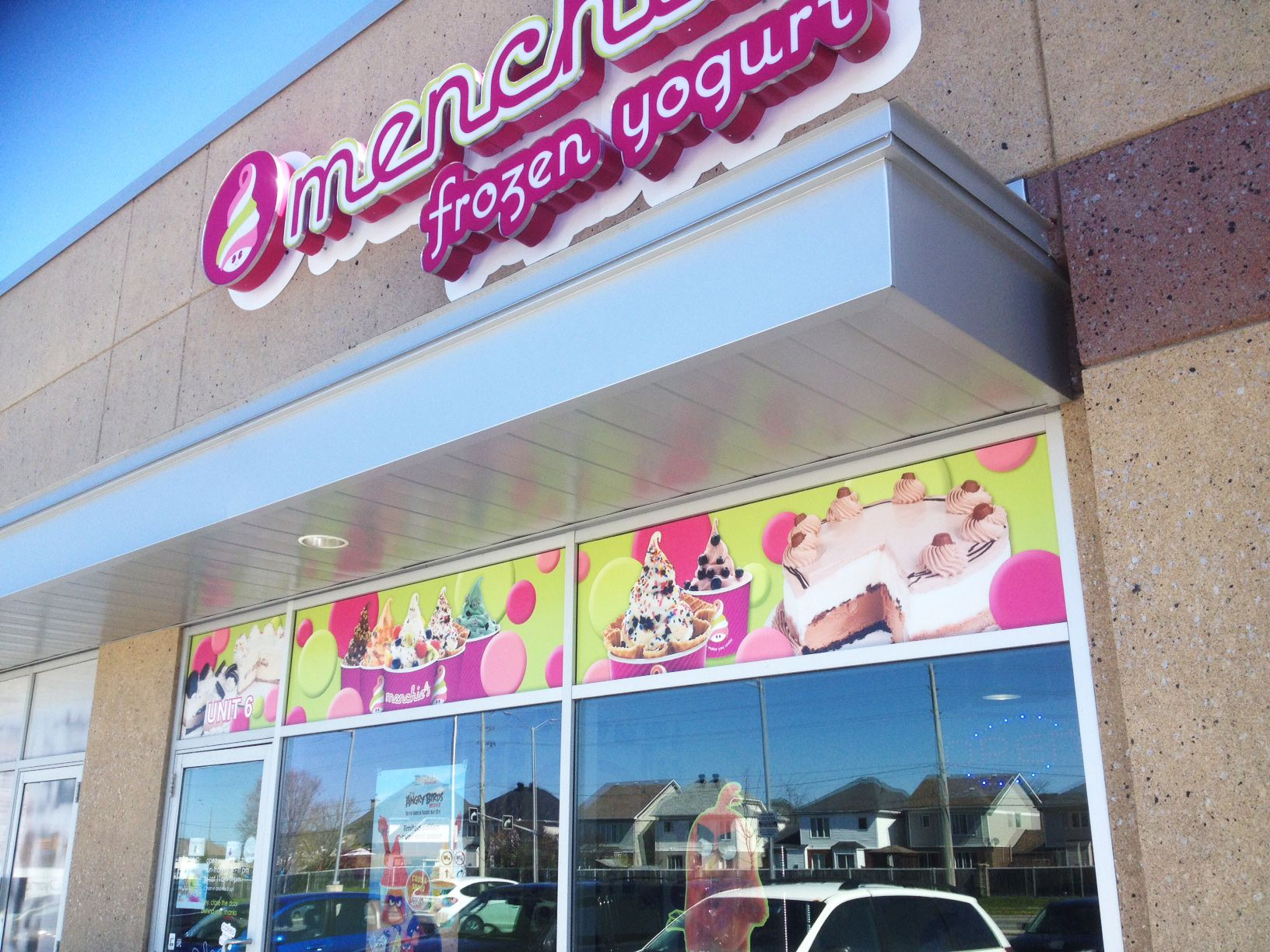 best images about store front signage vinyls mmmm these yummy window graphics completed by speedpro imaging ottawa for menchies frozen