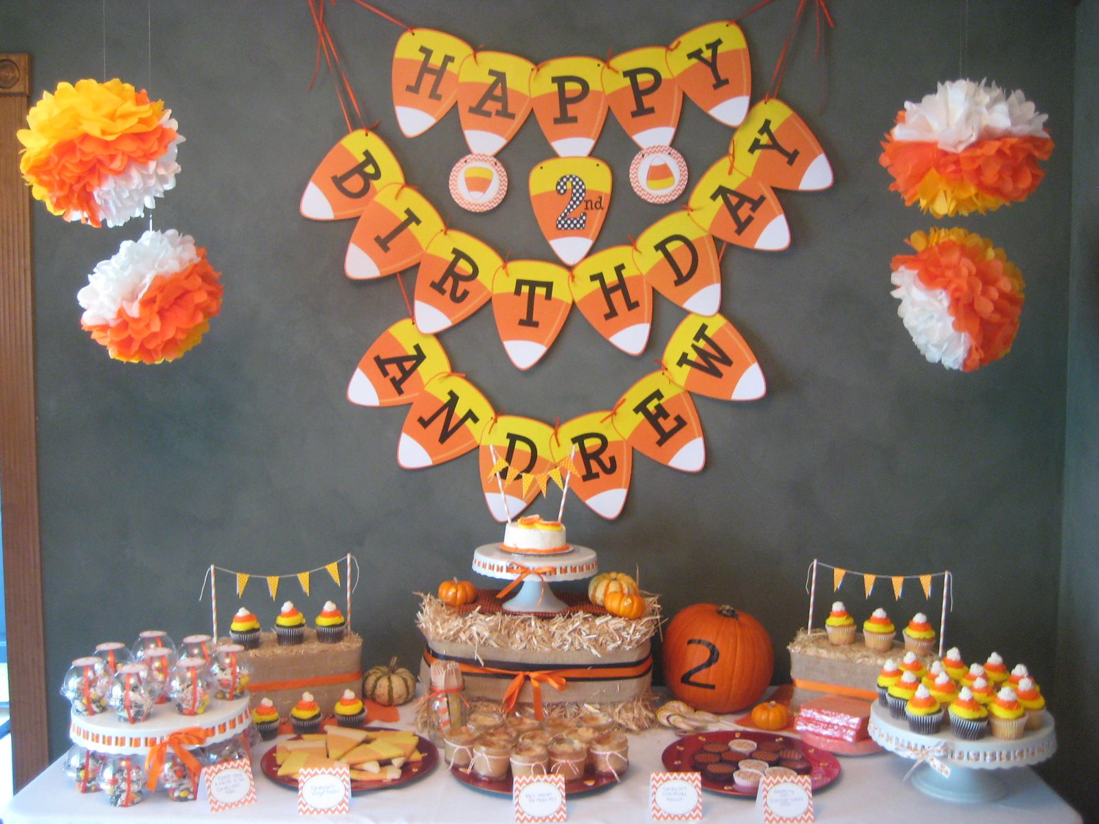 Candy Corn Birthday Party | Candy corn, Themed baby showers and ...