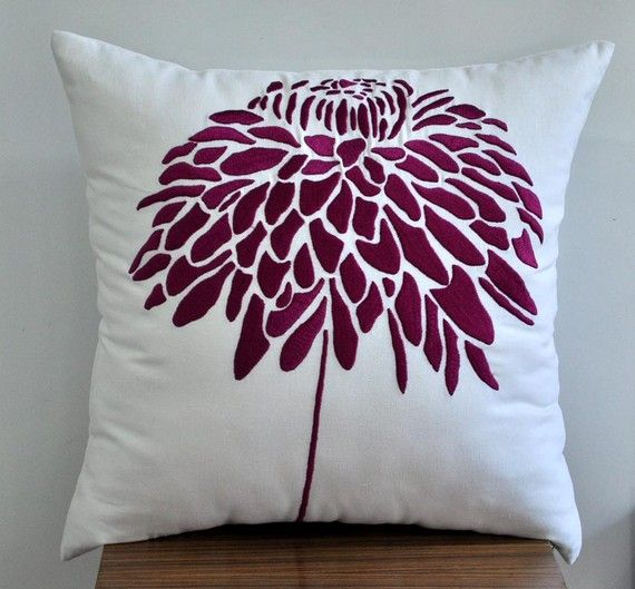 This Purple Dupioni Silk Decorative Pillow Cover Is A Stunning