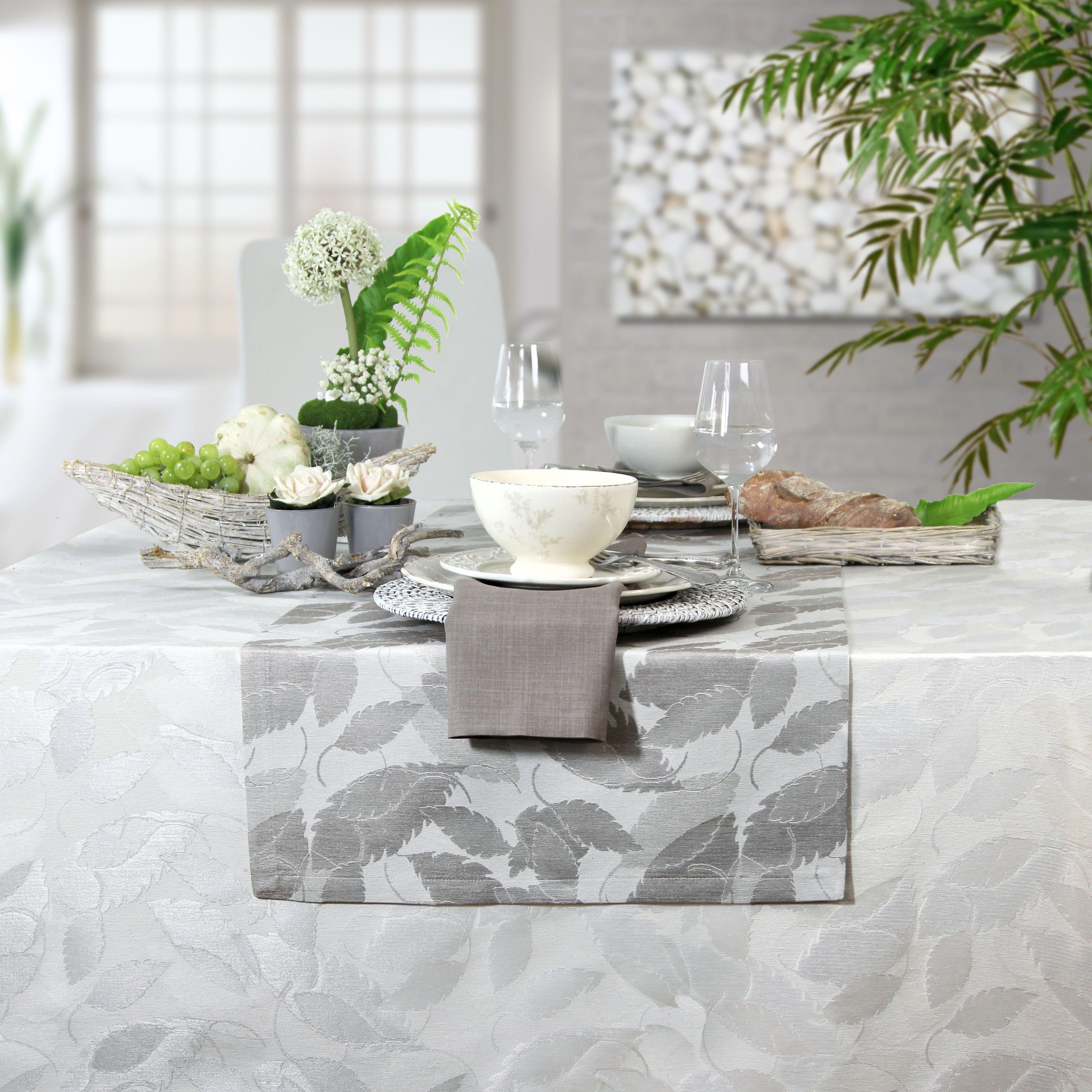 jacquard tischdecke und tischl ufer ravenna von sander gedeckter tisch pinterest tisch. Black Bedroom Furniture Sets. Home Design Ideas