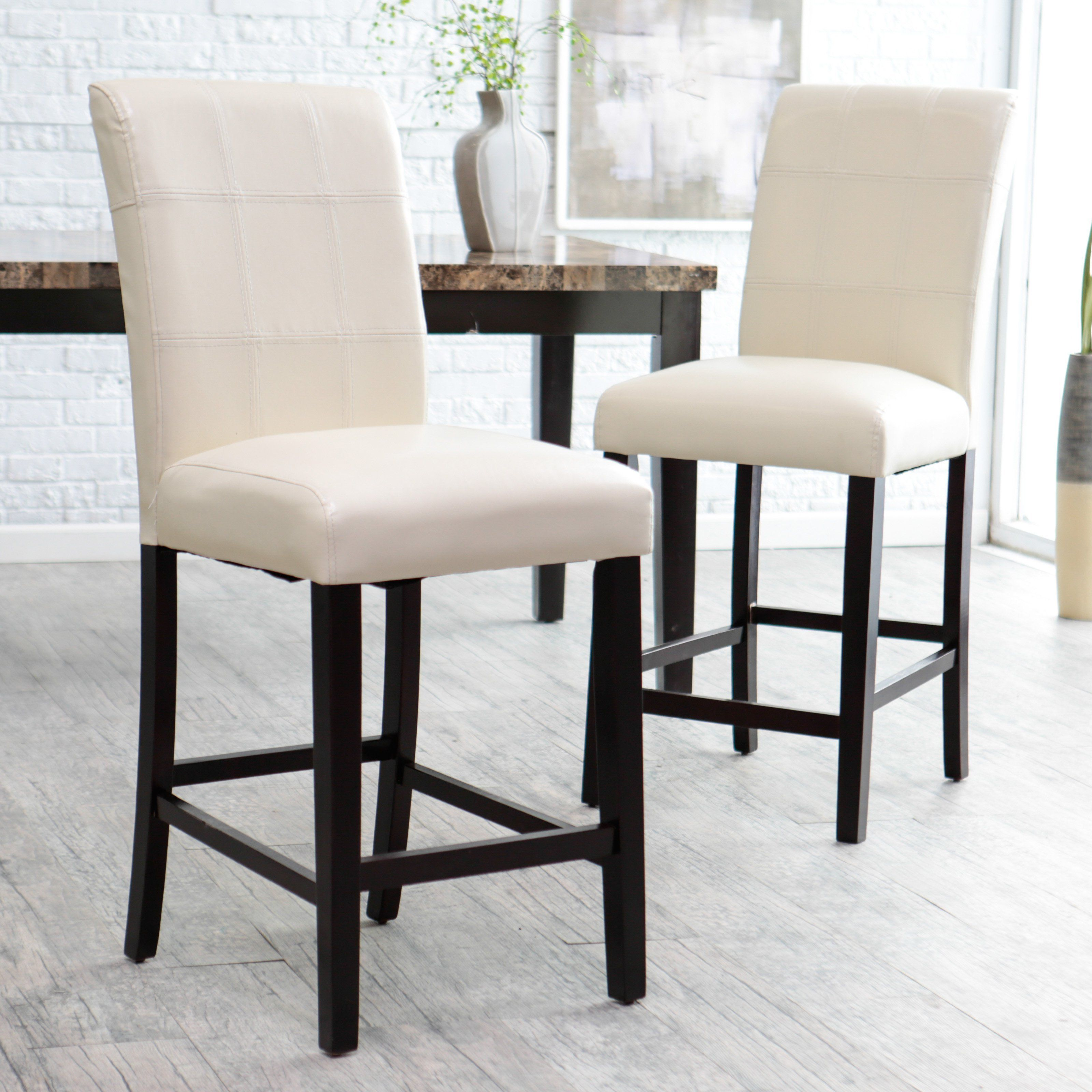 26 Inch Counter Stool Ivory Set Of 2