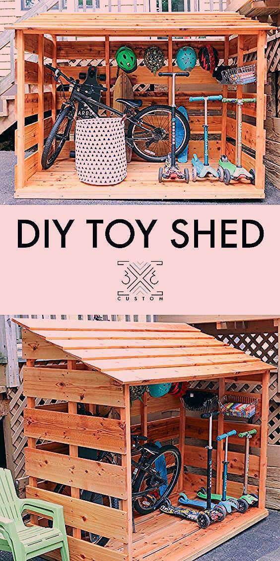DIY Bike Storage Shed — 3x3 Custom
