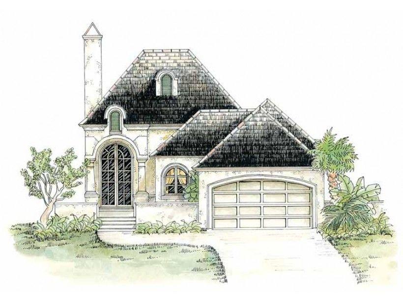 European Style House Plan 3 Beds 2 5 Baths 1860 Sq Ft Plan 301 156 French Country House Plans French Cottage Cottage Plan