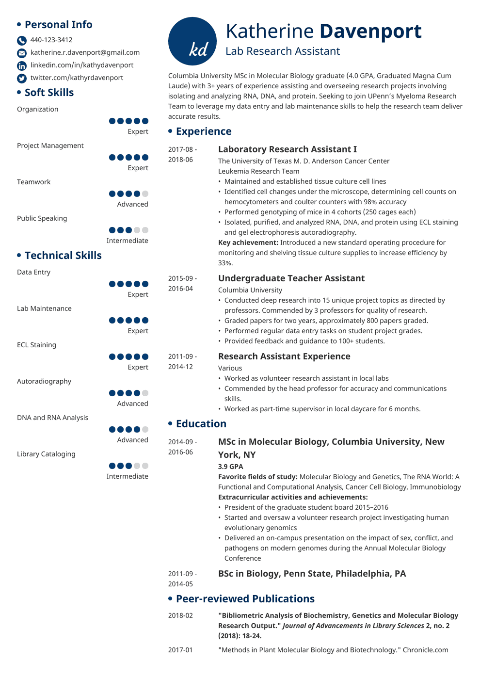 research assistant resume template initials in 2020