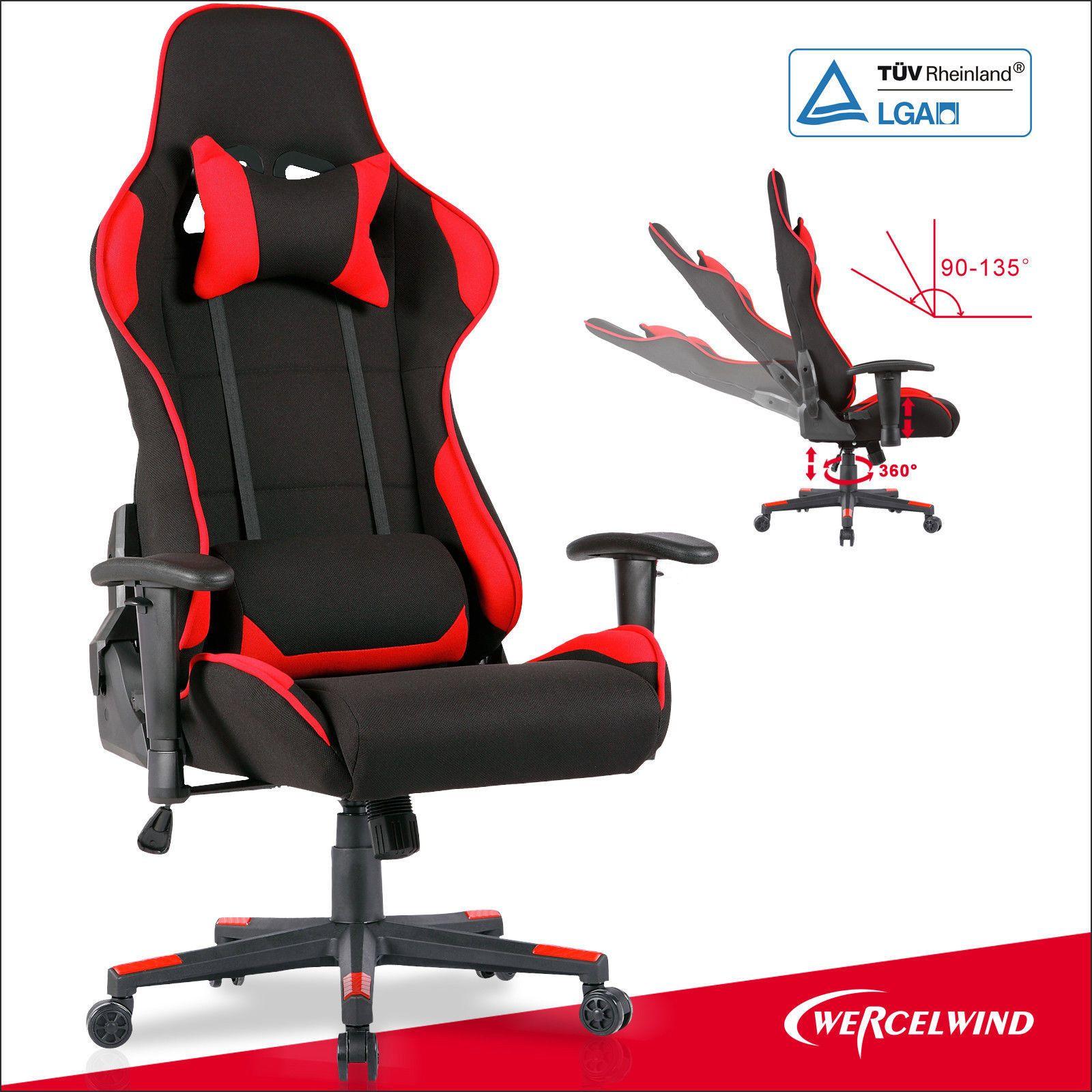 High Back fice Racing Gaming Chair Executive puter Desk Chair Rocker Black