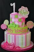 Pink & Green Cake