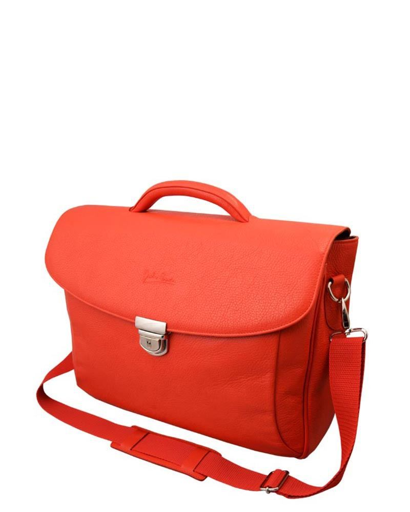 Giulio Barca Genuine Leather Push-Lock Laptop Case Made in Italy  Bags #Backpacks