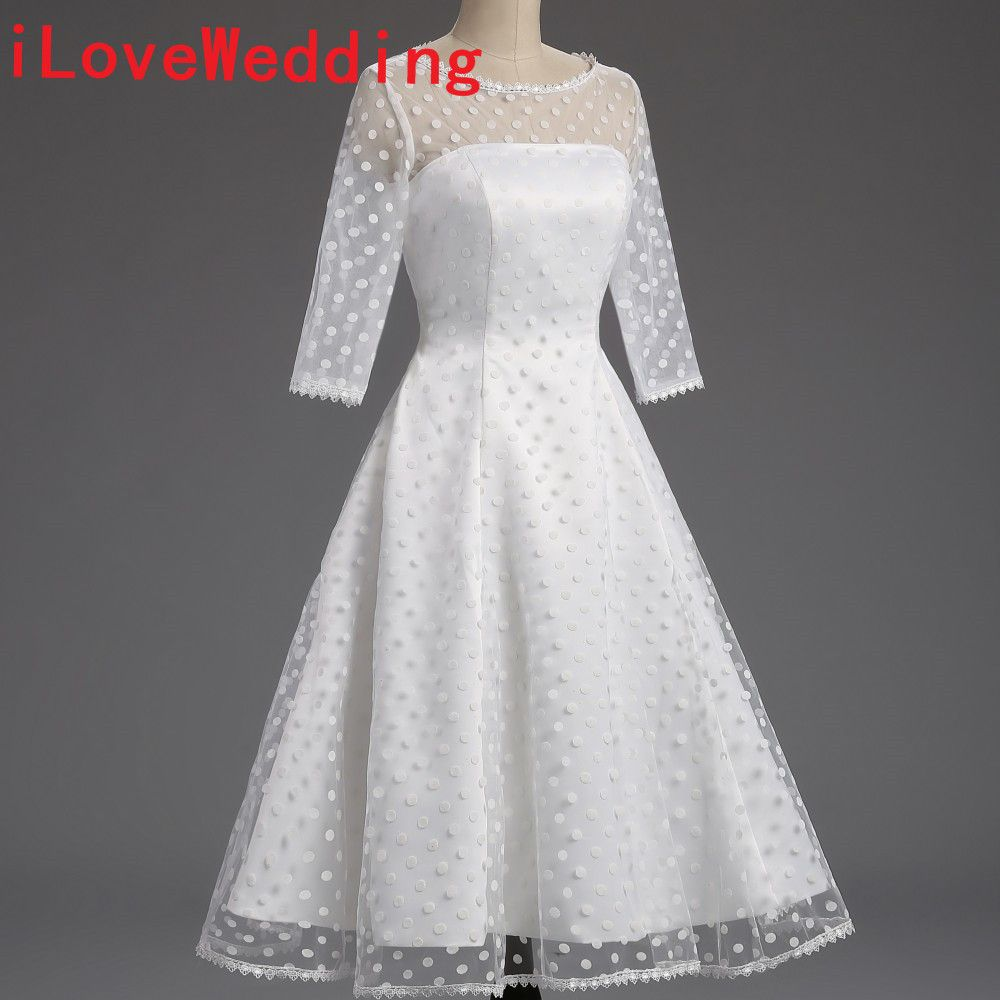 real short wedding dresses formal s polka dotted aline o