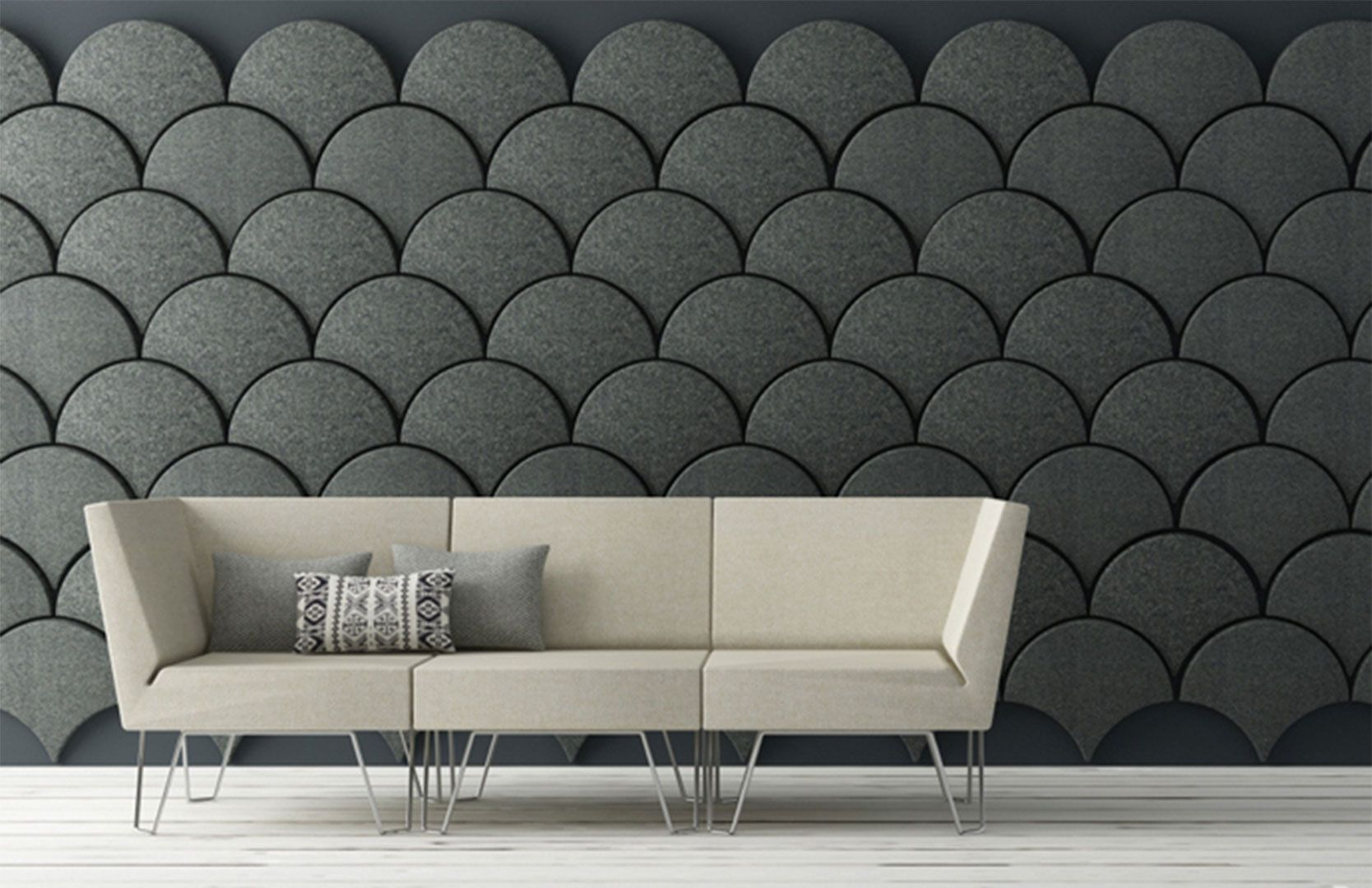 unique grey wall design ideas combined with sweet