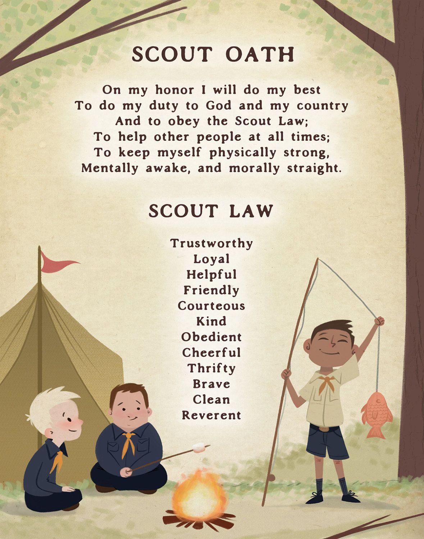 Scout Oath 11x14