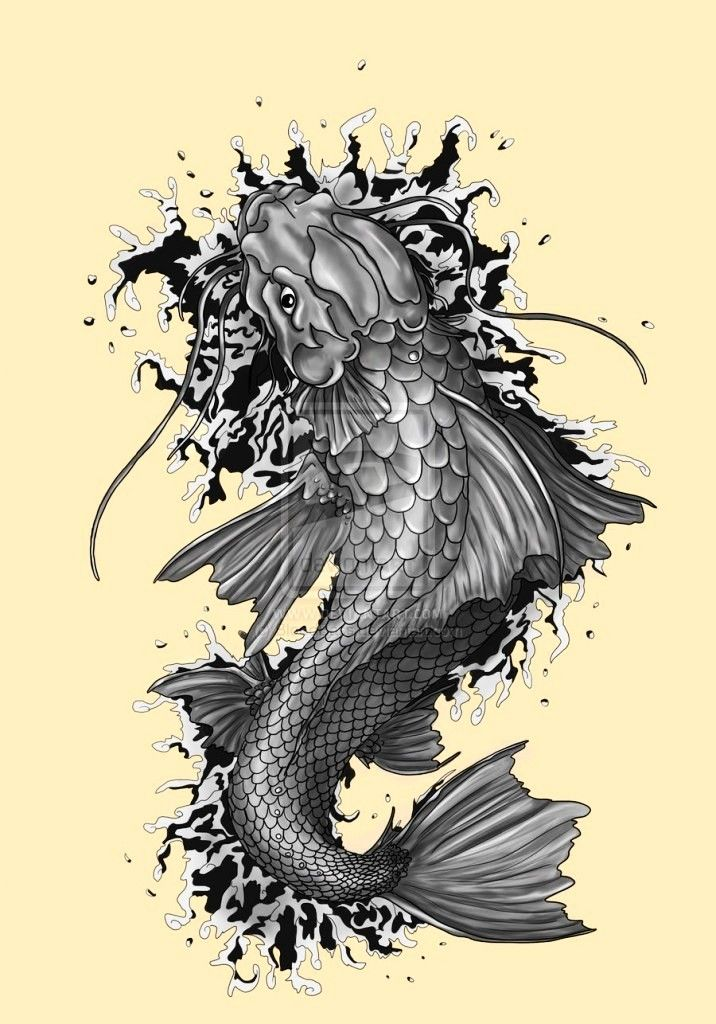 Free Downloadable Tattoos Coy Fish Tattoo Kinds Of Tattoos ...Koi Fish Dragon Tattoo Designs