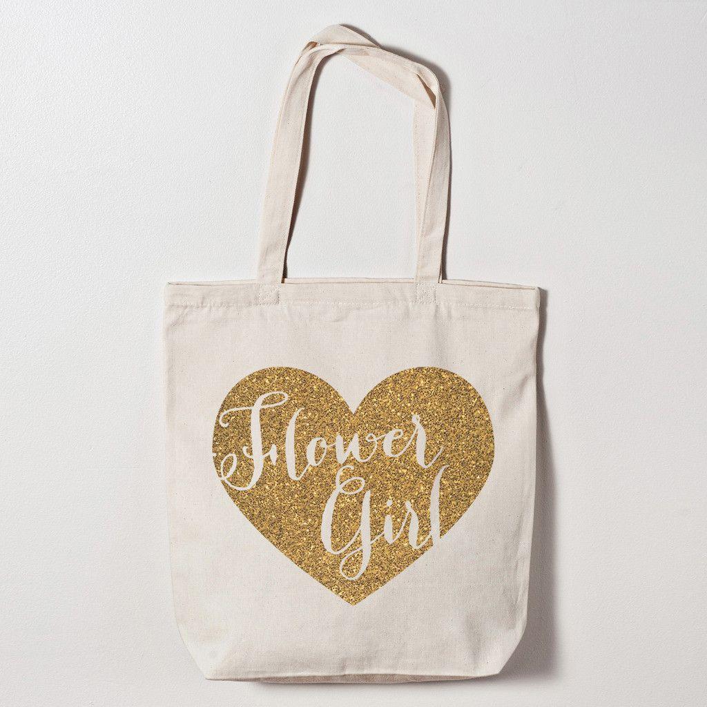 Tote Bag - Flower Girl Heart Tote Bag