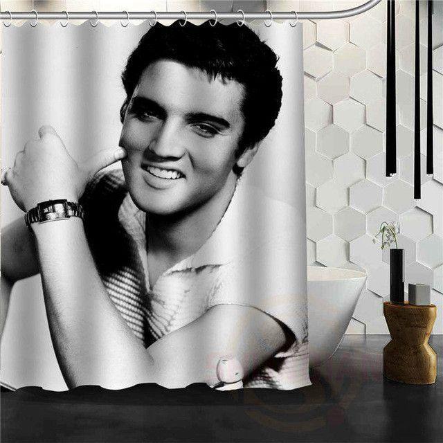 Custom Home Decor Elvis Presley Fabric Modern Shower Curtain