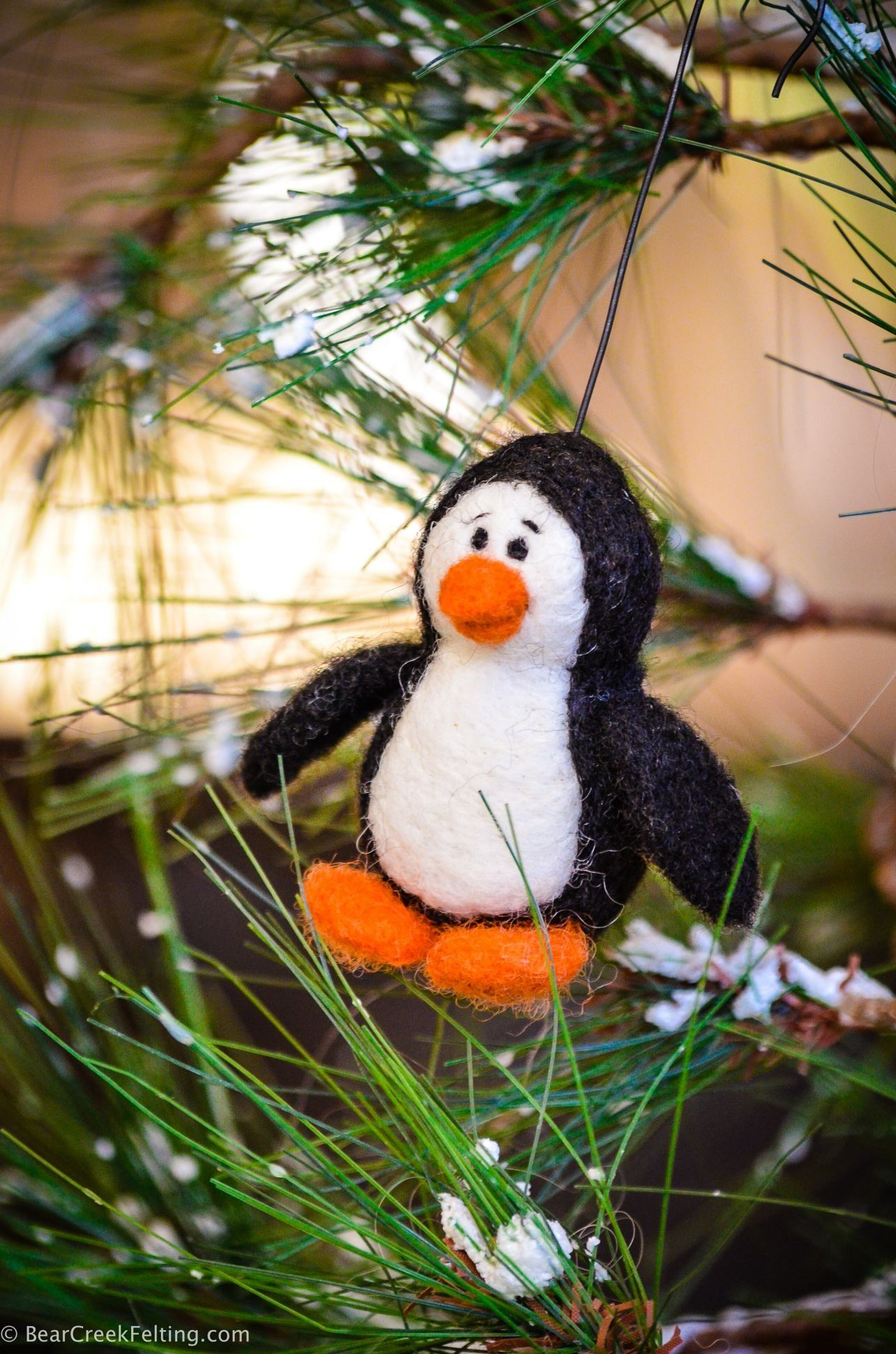 DIY Felt Christmas Ornaments - Bear Creek Felting