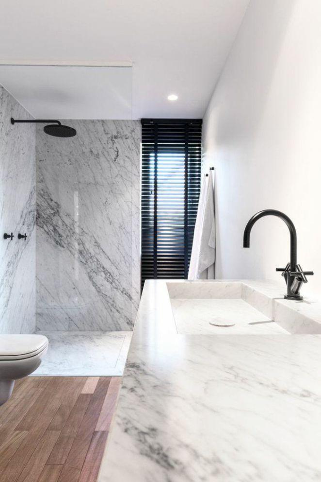 Idée relooking cuisine la plus moderne salle de bain en marbre blanc - Modeles De Maisons Modernes