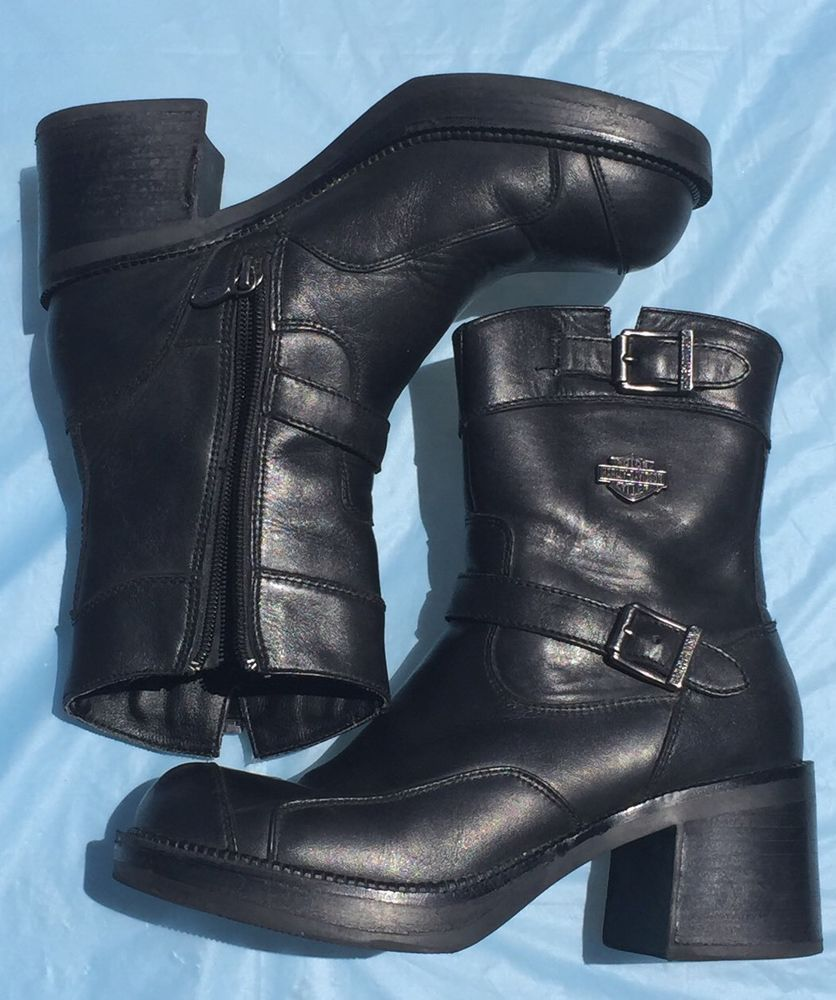 Womens leather motorcycle riding gloves - Womens Harley Davidson Gypsy Boots 85303 Sz 7 5 Leather Motorcycle Riding Gear