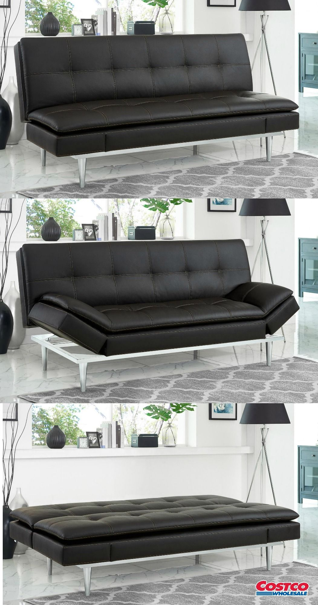Russel Beautyrest Bonded Leather Euro Lounger Costco