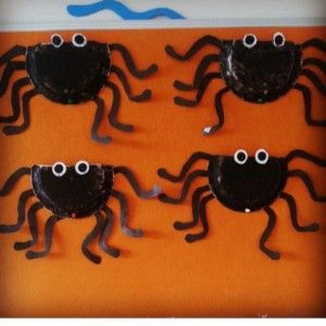 paper plate spider craft & paper plate spider craft | Paper plate animals craft | Pinterest ...