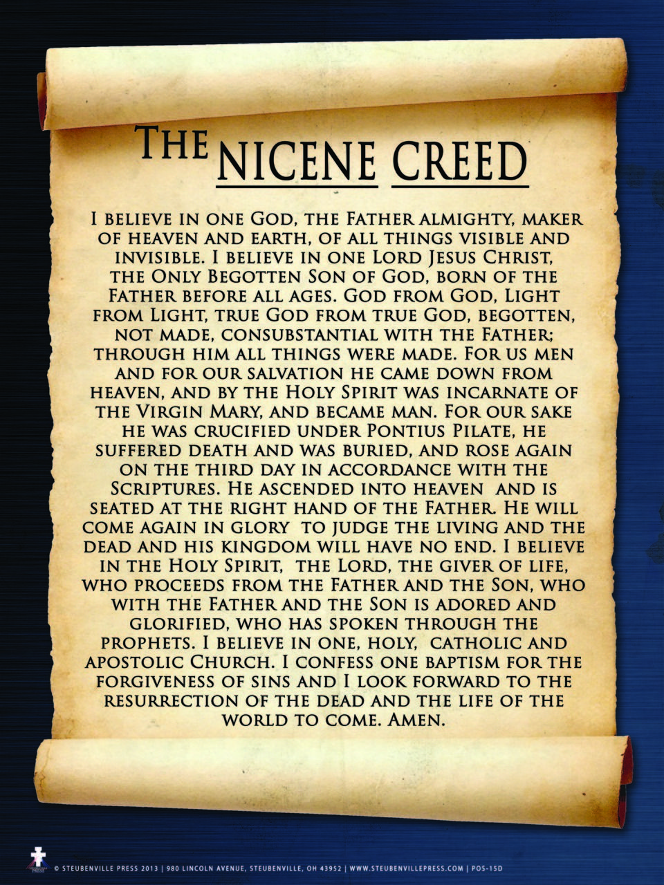 Nicene Creed Poster | Nicene creed, Catholic prayers daily, Nicene creed  catholic
