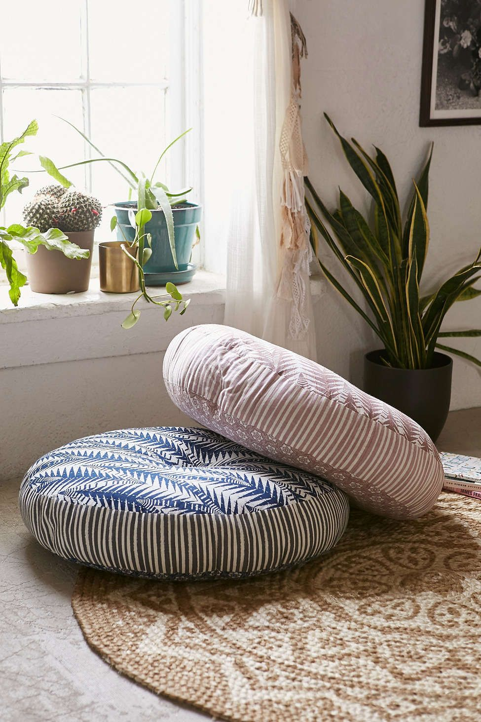 Magical Thinking Pilpil Mixed Pattern Floor Pillow Patterned Floor Pillows Sewing Room Inspiration Floor Pillows