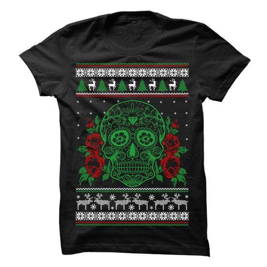 Sugar Skull Xmas T Shirts, Hoodie. Shopping Online Now ==►…