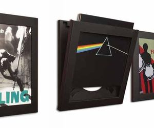 Show your favorite records (yes, the vinyl ones) as great art in these flipframes.  What a great way to showcase your collection!