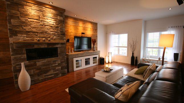 Un Salon Rustique Et Contemporain Salons Foyers And