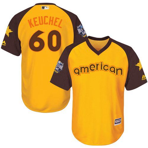 Dallas Keuchel Gold 2016 MLB All-Star Jersey - Men's American League Houston Astros #60 Cool Base Game Collection