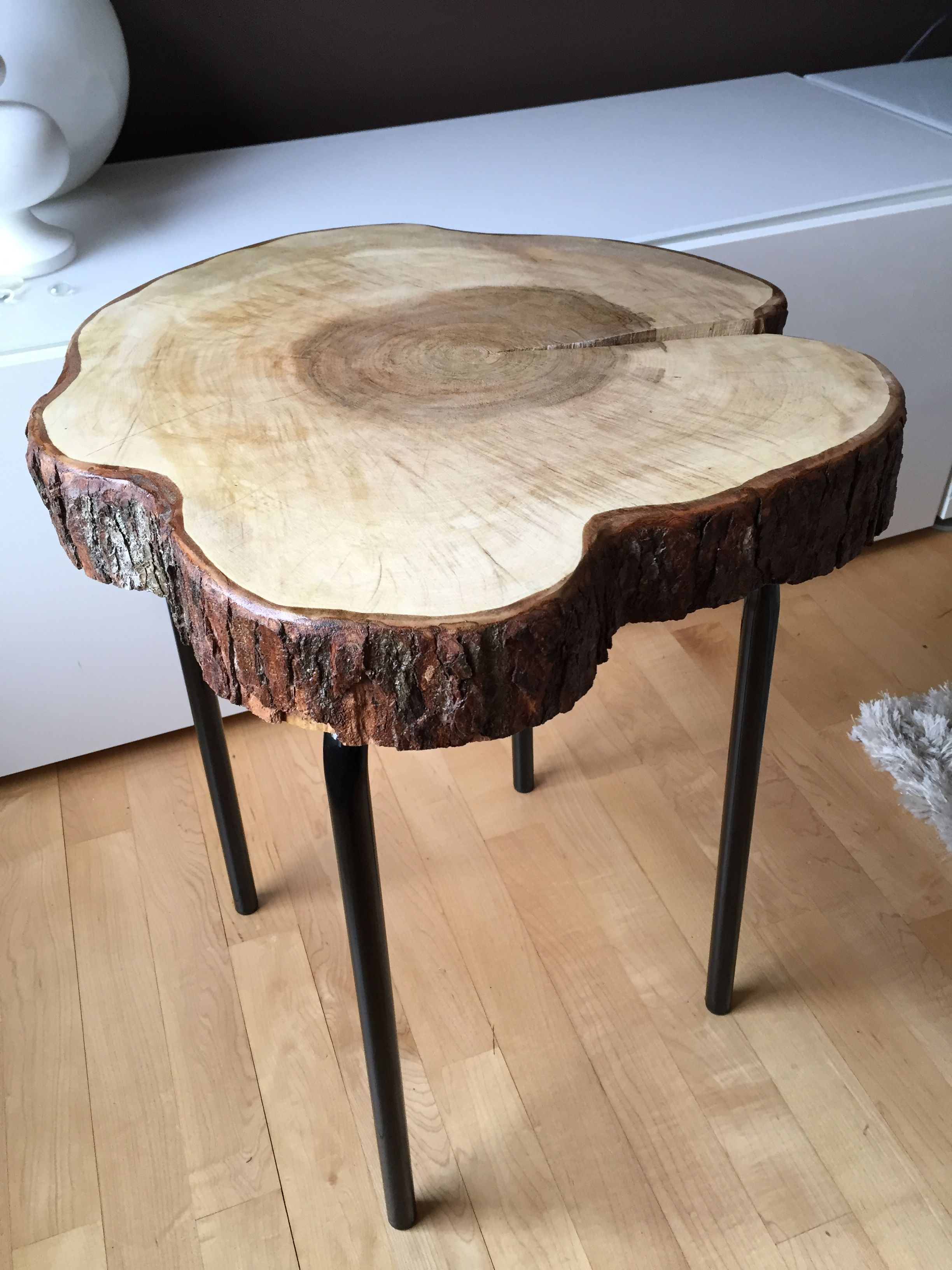 Live Edge Table with hairpin legs, Live Edge Coffee table ...