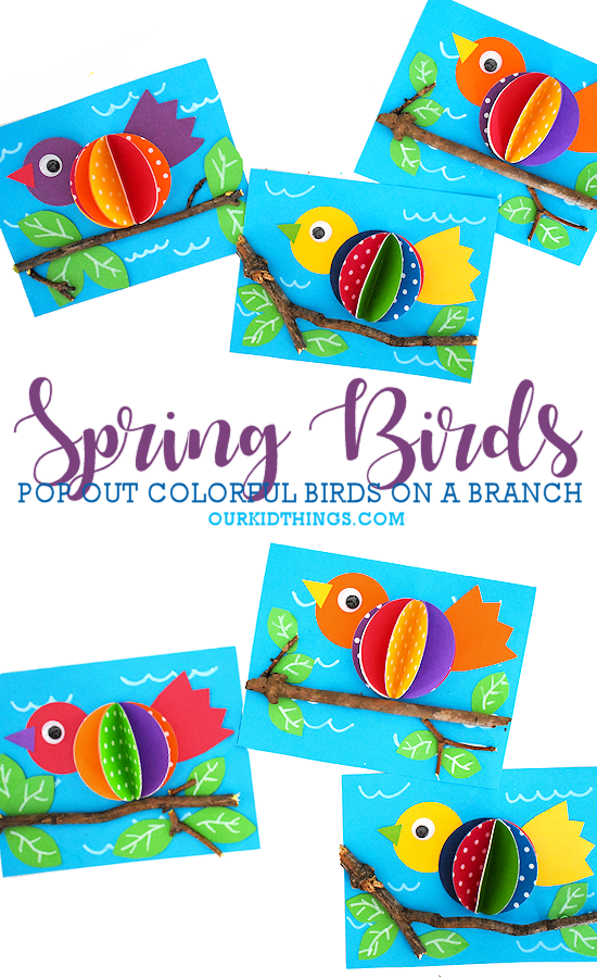 Photo of Spring Bird on a Branch Craft – Blog