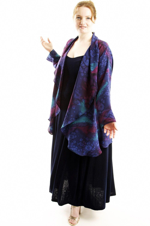 9833d24bd1 Plus Size Mother of Bride Drape Jacket Silk Navy Burgundy Purple Teal Size  22/24 SHOP NOW: Unique jackets for women Sizes 14 - 36, mother of the  bride, ...