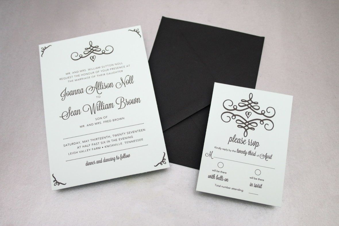 DIY Swirl Wedding Invitations - Free Printable | Weddings and Wedding