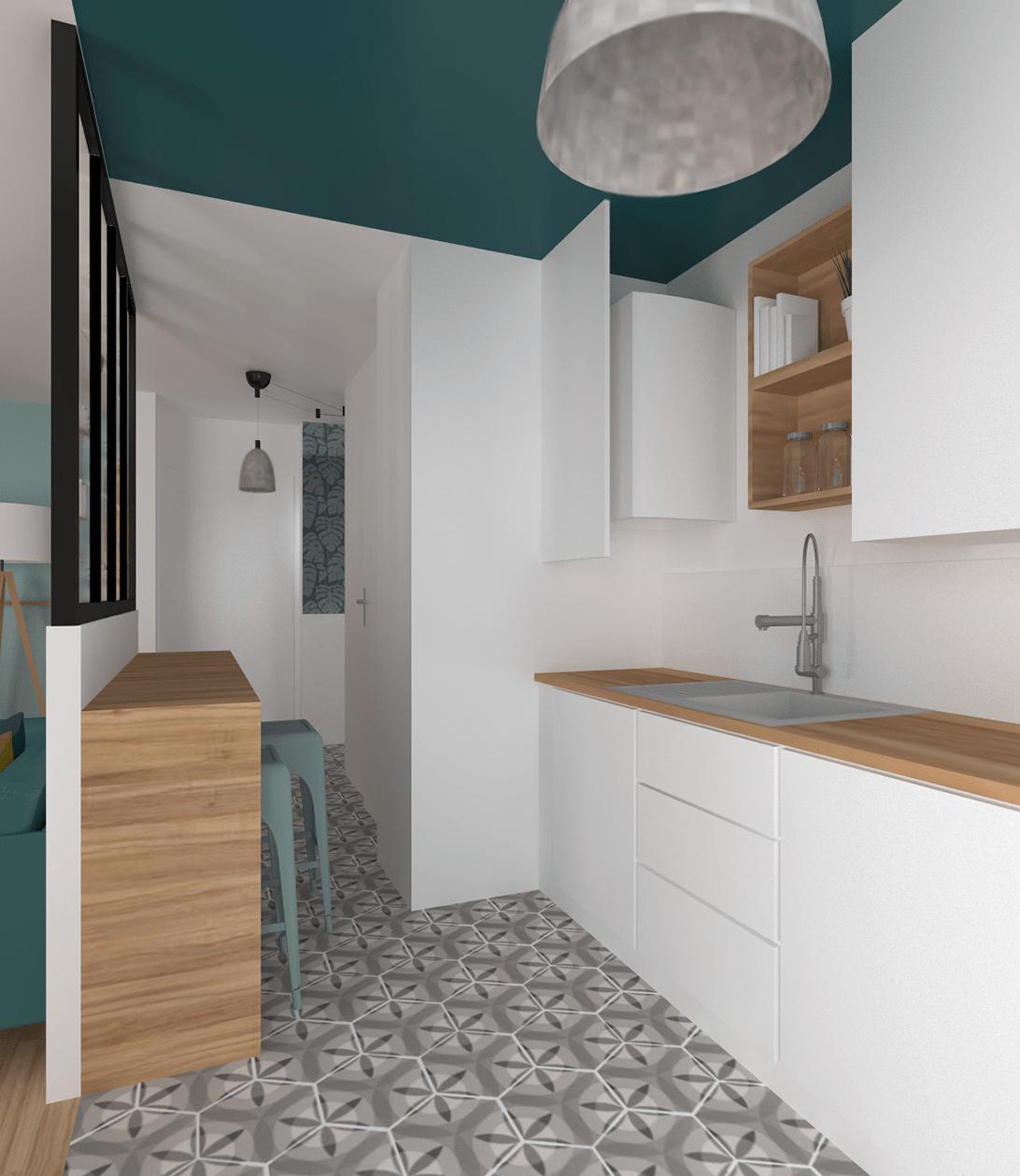 Déco Maison Meuliere: Bleu Ciel & Paon Un Appartement Rénové à L'image De Sa