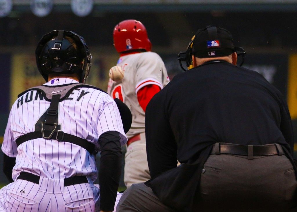Colorado Rockies vs. Philadelphia Phillies. (Photo credit: Abbie Parr)