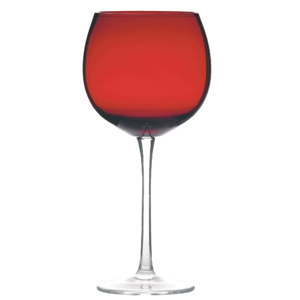 Ruby Red Balloon Wine Gl