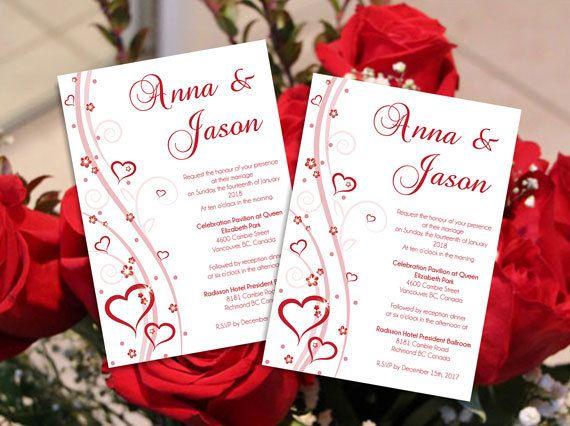 Diy Printable Editable Wedding Invitation Card Microsoft