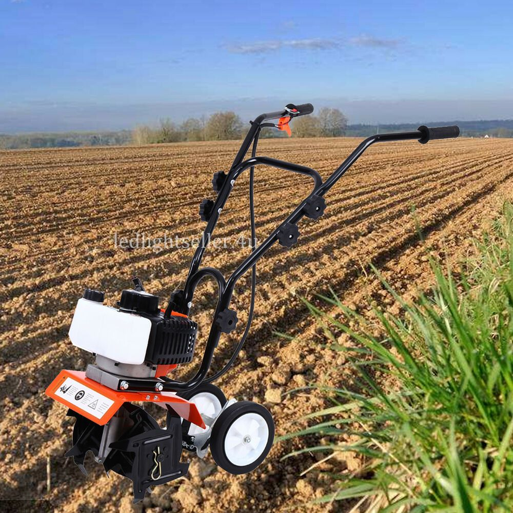Mini Garden Tiller Cultivator Gas Powered 2-stroke Tilling ...