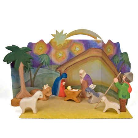 Ostheimer Nativity Set With Diorama Christmas Nativity