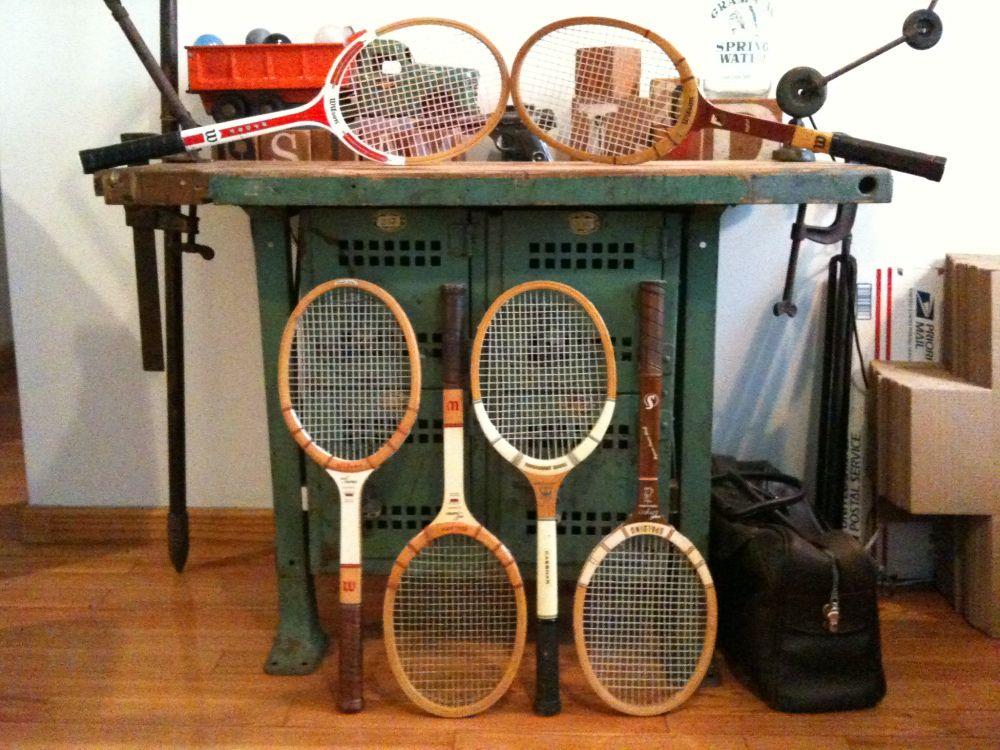 Order in the court vintage wooden tennis racquet