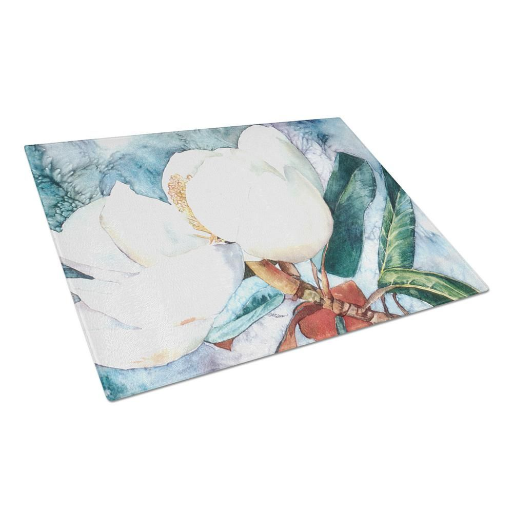 Flower Magnolia Tempered Glass Cutting Board Multi Color