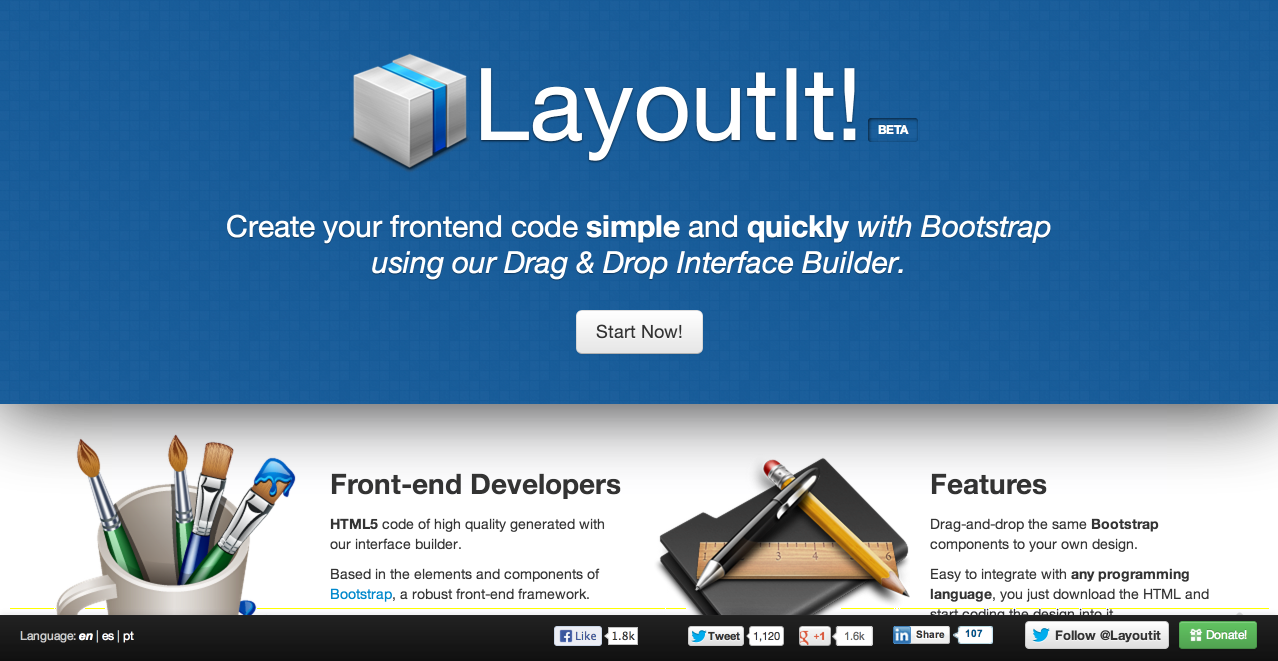 LayoutIt! - Interface Builder for Bootstrap   useful easy and basic ...