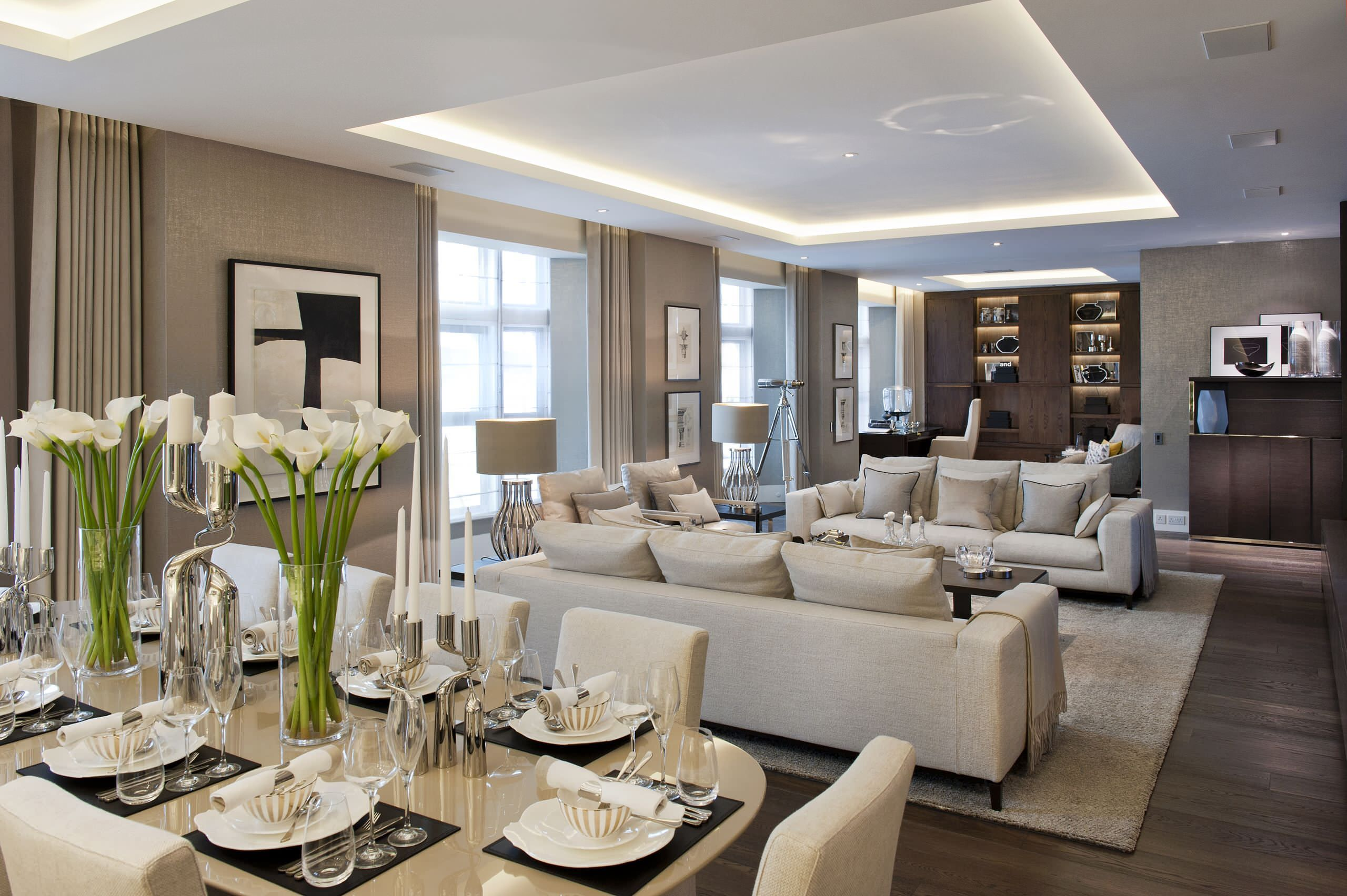 Gorgeous Neutral Color Schemes For Living Rooms Design: Living Room  Furnitures Ideas And Off White