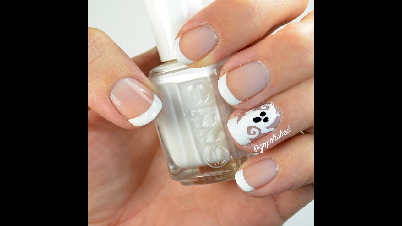 Full tutorial for this Ghost French tip design. Perfect manicure for ...