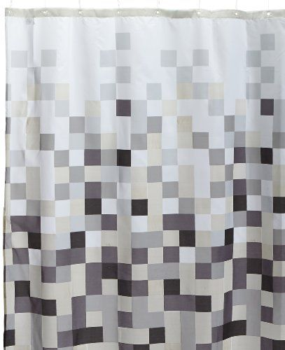 Sealskin Pixel Shower Curtain 180 X 200 Cm Black Buy This And Much More Home