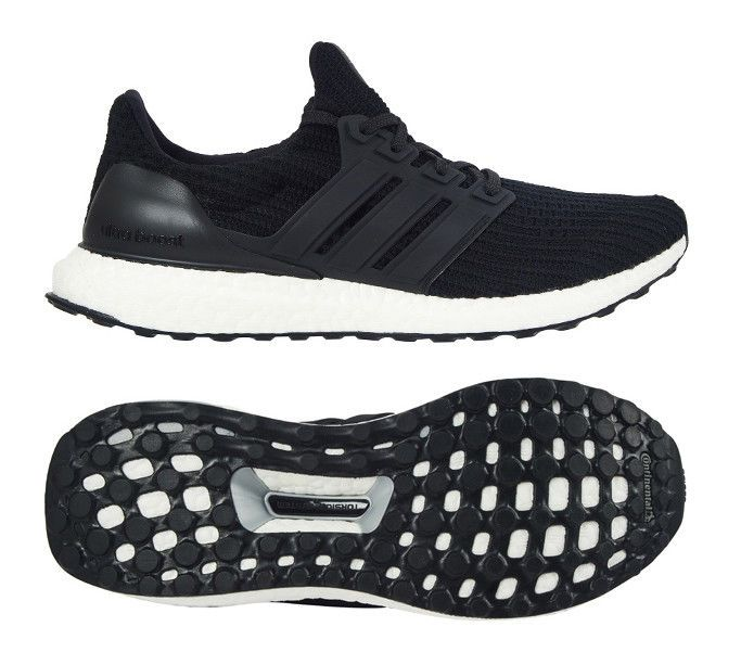 adidas UltraBOOST 4.0 Men's Running Shoes Black Fitness Gym
