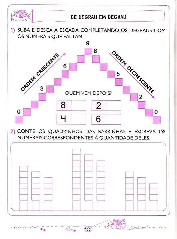 Matematica Ordem Crescente E Decrescente Atividades De