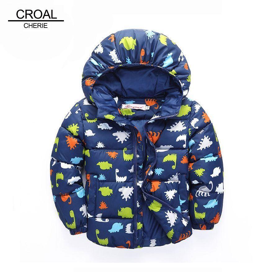 get online best place top brands 80-120cm Dinosaur Winter Kids Boy Jacket Cotton Outerwear ...
