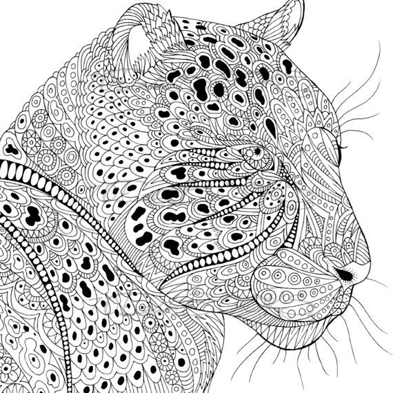 Beautiful pattern of animal coloring book by 70EastBOOKS