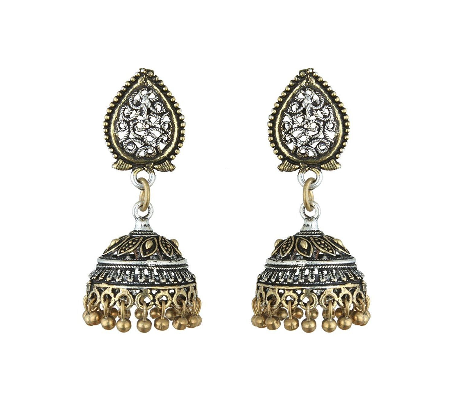 rajasthani earrings chai jewelry gallery multi haati lyst